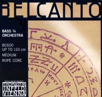 Thomastik Belcanto 3/4 String Bass E String - Medium Gauge - Chromium/Steel Rope